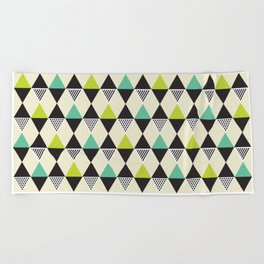 Geometric Pattern 48 (Mid-century) Beach Towel