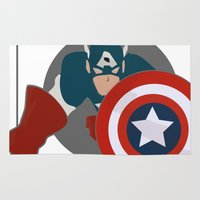avenger Area & Throw Rugs featuring The first avenger by DocPastor