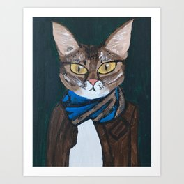 Elvis the Cat Art Print