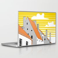 medieval Laptop & iPad Skins featuring Medieval houses by LaDa