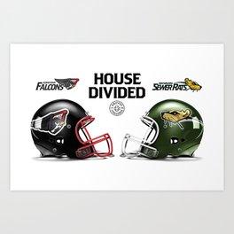 Falcons / Rats House Divided Art Print