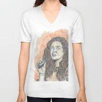 oitnb V-neck T-shirts featuring Nichols OITNB by Ashley Rowe
