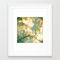 magnolia Framed Art Prints featuring Magnolia by Cassia Beck