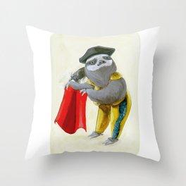 Sloths Are Bad At Things- Mario Lanza the Matador! Throw Pillow