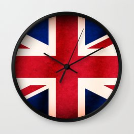 Union Jack UK British Grunge Flag  Wall Clock