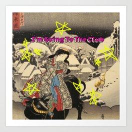 """Ukiyo-e """"I'm going to the club"""" Art Print"""