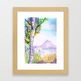 Birch Landscape Framed Art Print