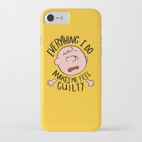 charlie brown iPhone & iPod Cases featuring CHARLIE BROWN by Josh LaFayette