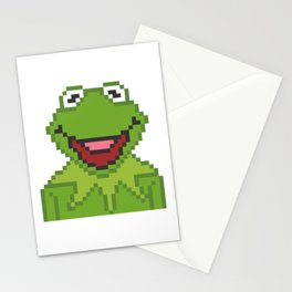 Kermit The Muppets Pixel Character Stationery Cards