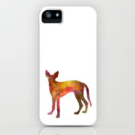 Ibizan Hound dog in watercolor iPhone Case