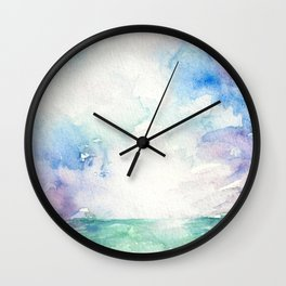 Colored Sky Watercolor Painting Wall Clock