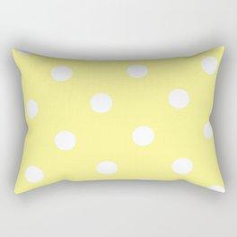 Yellow and White Polka Dot Rectangular Pillow