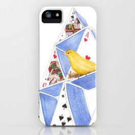 A House of Cards by Lars Furtwaengler | Colored Pencil | 2014 iPhone Case