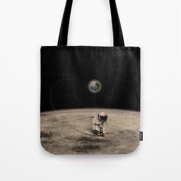 Tying the moon Tote Bag