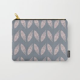Tropical foliage Grey Pink #tropical #leaves #homedecor Carry-All Pouch