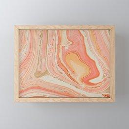 Marbled paper Framed Mini Art Print