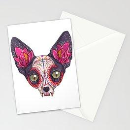 Día de los Muertos - Sugar Skull Cat Stationery Cards