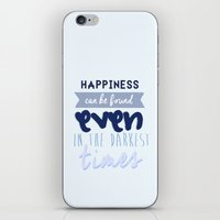 harry potter iPhone & iPod Skins featuring Harry Potter Quote by Sümeyra Altunok