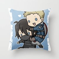 stucky Throw Pillows featuring Stucky On You by DeanDraws