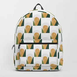 Minimal Xmas Golden Snow Globe Backpack
