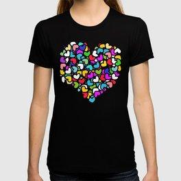Rainbow LOVE Hearts T-shirt