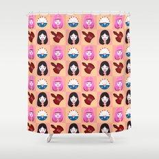 Marcelline & Bubblegum Shower Curtain