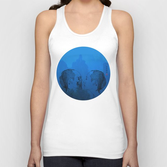 Self portrait-Another View Unisex Tank Top