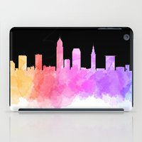 cleveland iPad Cases featuring Cleveland Skyline by Emily Brady