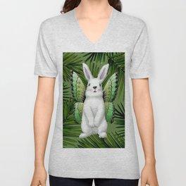 Winged Bunny Unisex V-Neck
