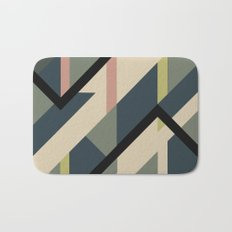 Modernist Dazzle Ship Camouflage Design Bath Mat