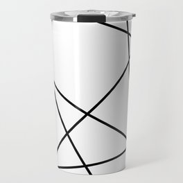 Lines in Chaos II - White Travel Mug