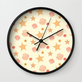 Shell and Star Wall Clock