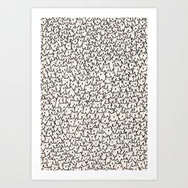 A Lot of Cats Art Print