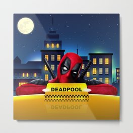 Dead Pool Taxi Night Metal Print