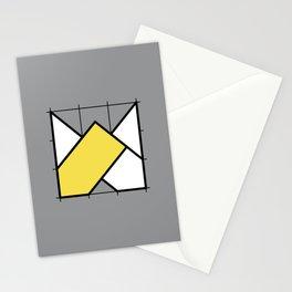 W // Perfectionist Alphabet (Pantone Ultimate Gray + Illuminating) Stationery Cards