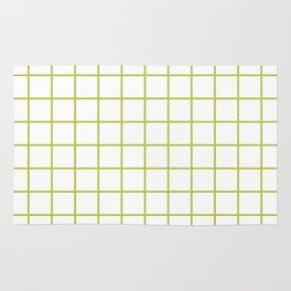 Grid Pattern Chartreuse Rug