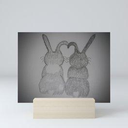 Snuggle Bunnies Mini Art Print