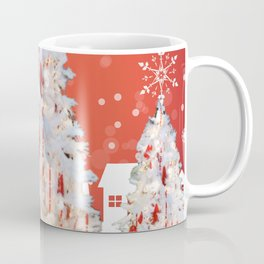 Three White Christmas Trees | Nadia Bonello Coffee Mug