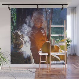 Buddha with Incense  Wall Mural