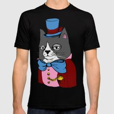 Dignified Cat Black SMALL Mens Fitted Tee