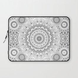 MOONCHILD MANDALA BLACK AND WHITE Laptop Sleeve