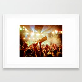 The Crowd at Pearl Jam 20 (PJ20) Framed Art Print