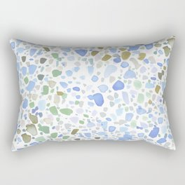 Magic Terrazzo Blue Rectangular Pillow