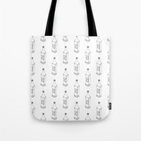 tequila Tote Bags featuring Tequila Pattern by Mrs. Ciccoricco