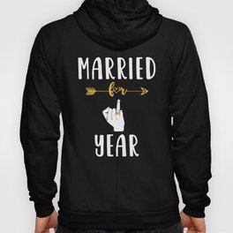 1st 1 year Wedding Anniversary Gift Married Husband Wife graphic Hoody