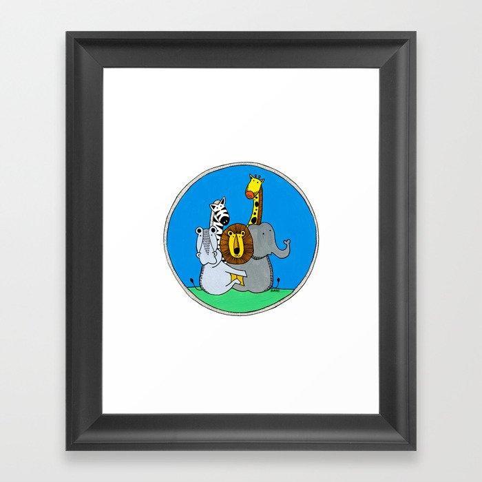 Group Hug Framed Art Print