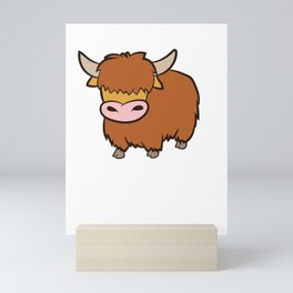 Highland Cow Lover I Just Really Like Highland Cows Mini Art Print