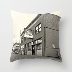 Neighborhood pub Throw Pillow