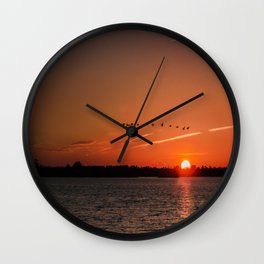 Flight Over the Sun Wall Clock
