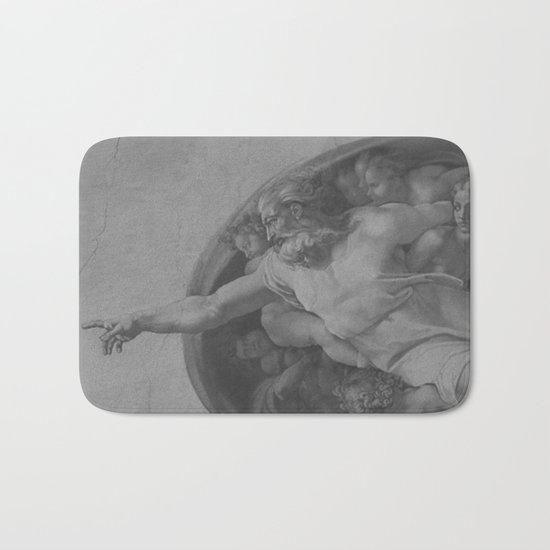 Black White Sistine Bath Mat